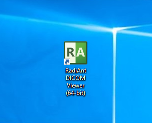 Click RadiAnt icon on the Desktop